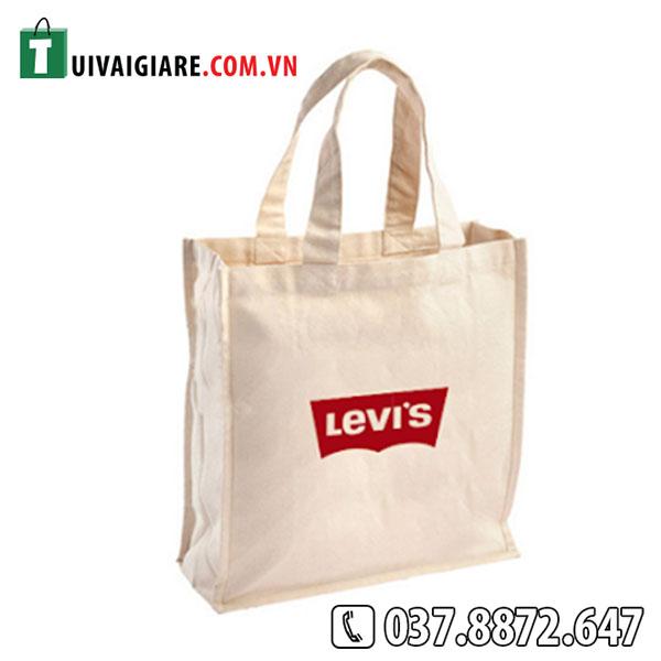 Tui vai bo dang hop in logo LEVI'S